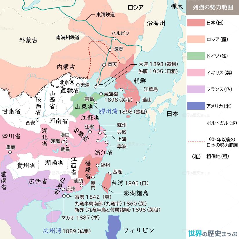 列強の中国分割