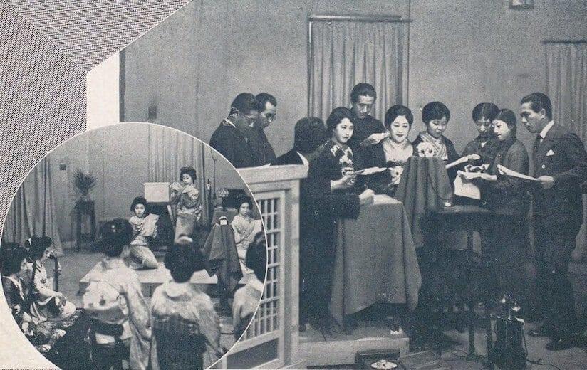 1920年代末のラジオ放送収録風景
