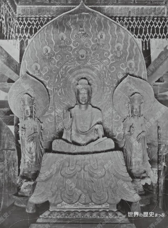 法隆寺金堂釈迦三尊像